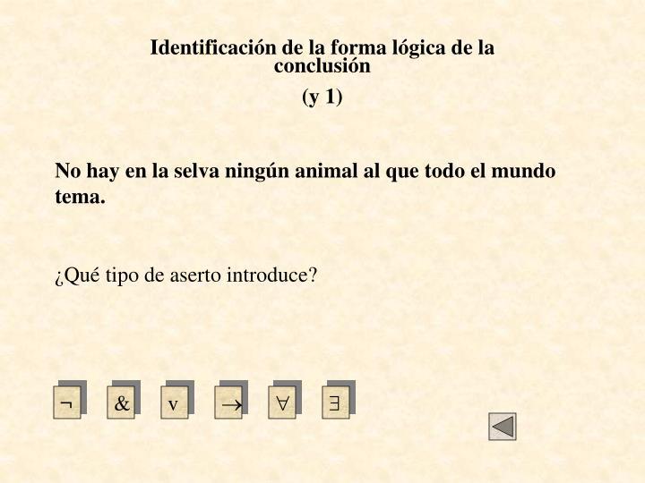 Identificación de la forma lógica de la