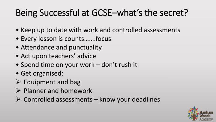Being Successful at GCSE–what's the secret?