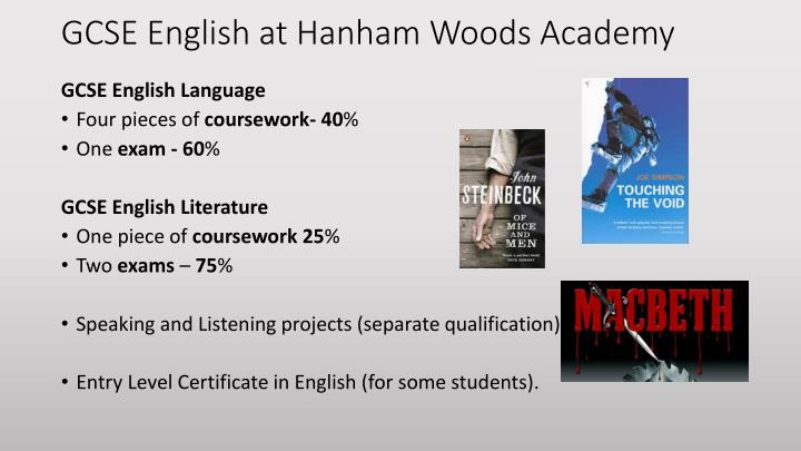 GCSE English at Hanham Woods Academy