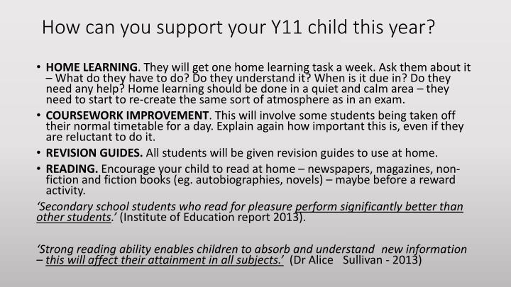 How can you support your Y11 child this year?