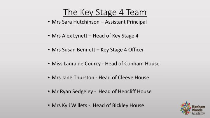The Key Stage 4 Team