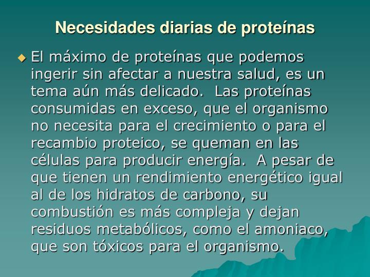 Necesidades diarias de proteínas