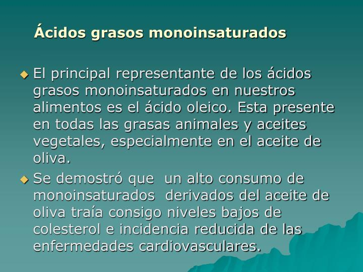Ácidos grasos monoinsaturados