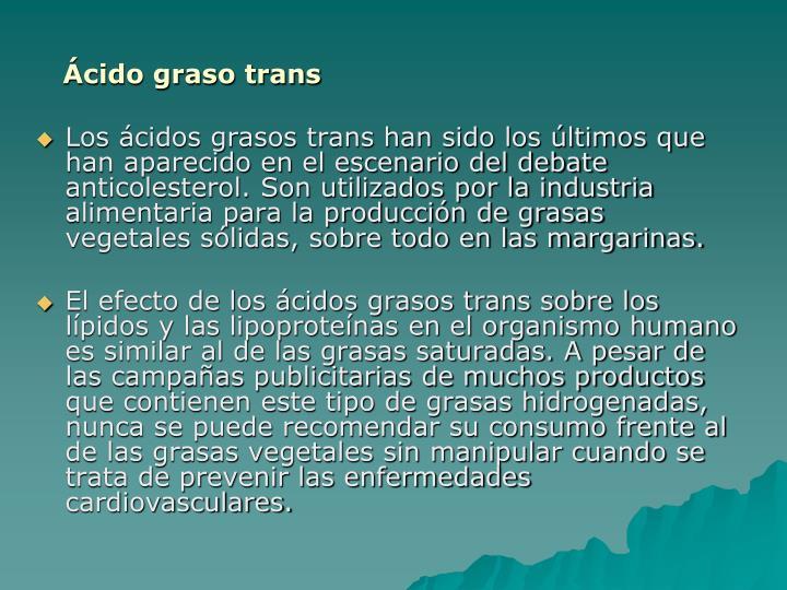 Ácido graso trans
