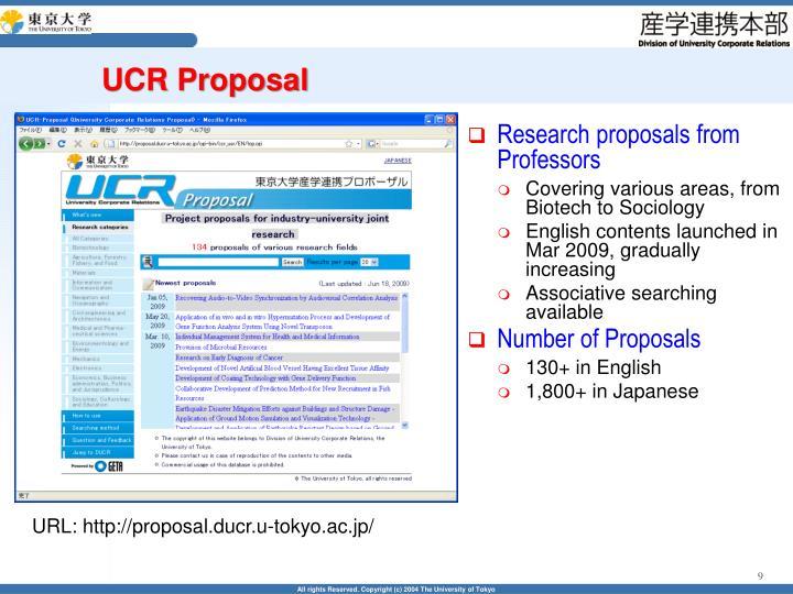 UCR Proposal