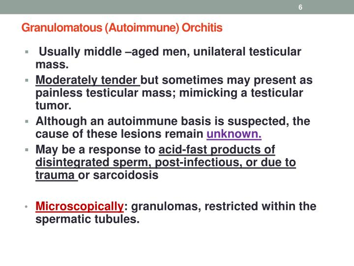 Granulomatous (Autoimmune)