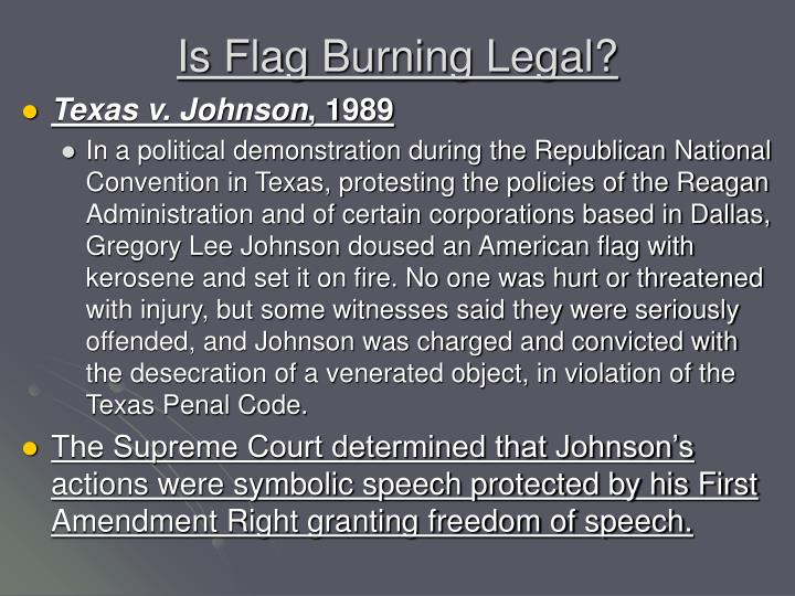 Is Flag Burning Legal?