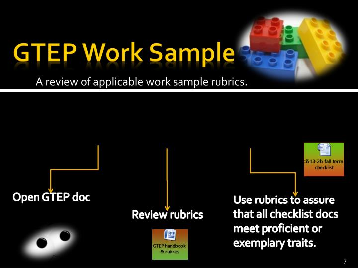 GTEP Work Sample