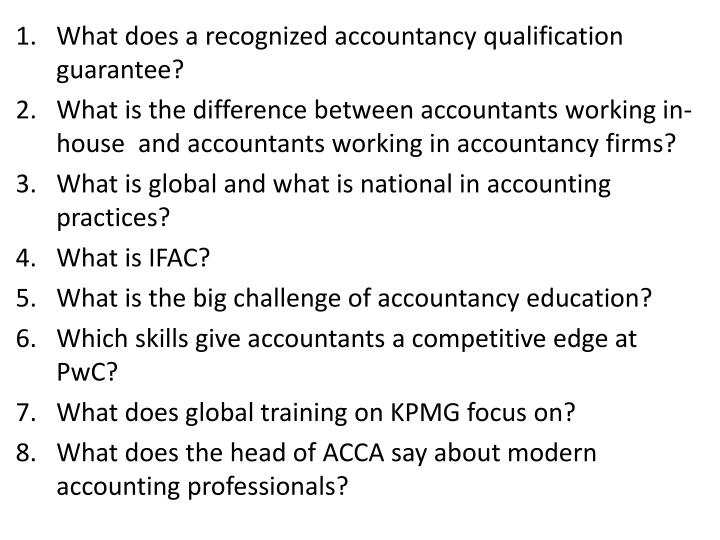 What does a recognized accountancy qualification guarantee?