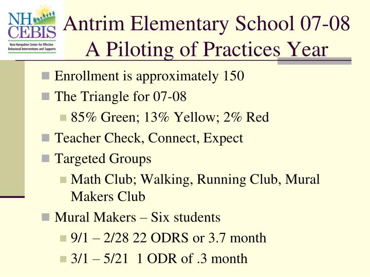 Antrim Elementary School 07-08