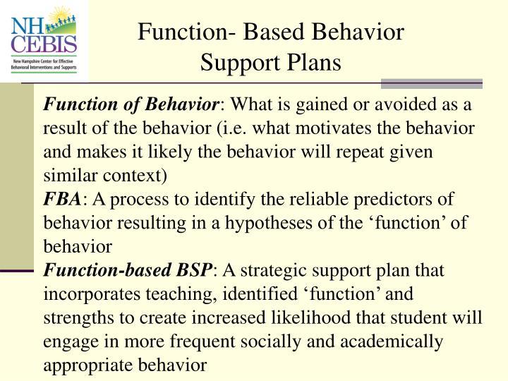 Function- Based Behavior Support Plans