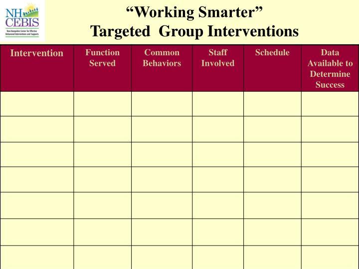 """""""Working Smarter"""""""