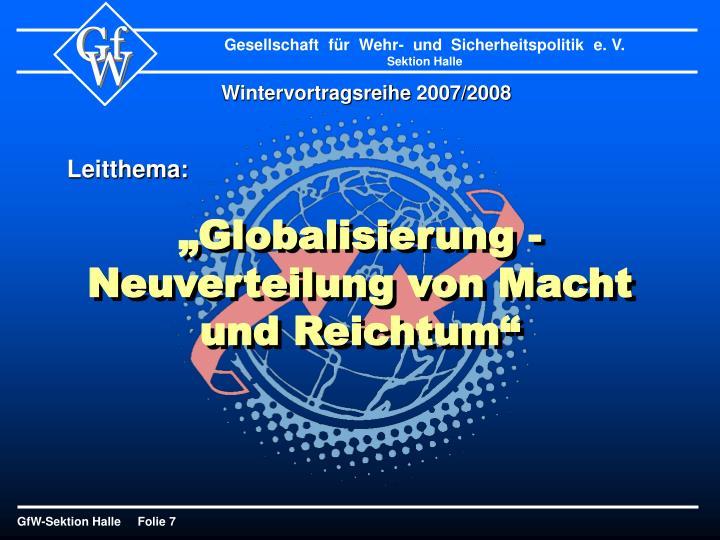 Wintervortragsreihe 2007/2008