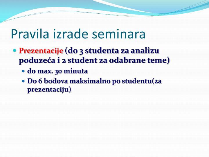 Pravila izrade seminara