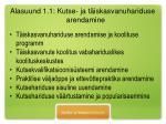 alasuund 1 1 kutse ja t iskasvanuhariduse arendamine