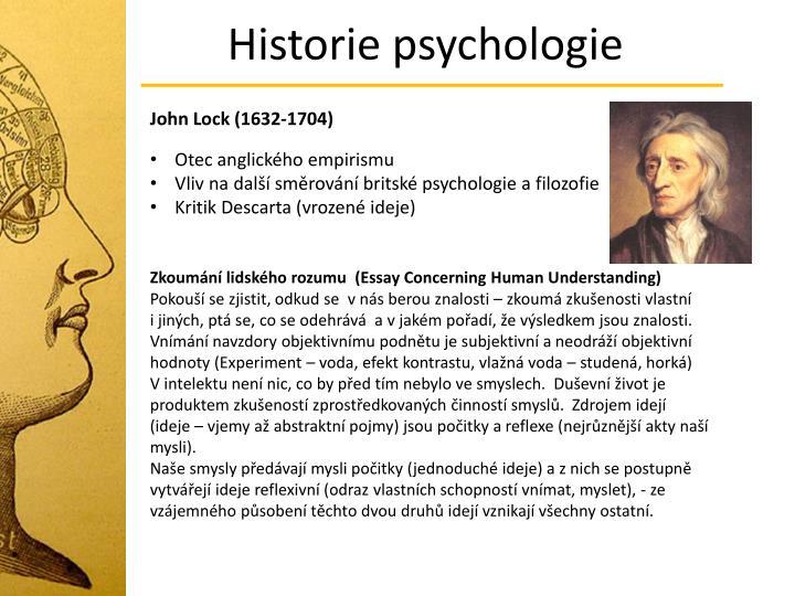Historie psychologie