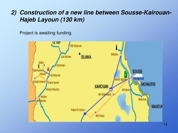 2)  Construction of a new line