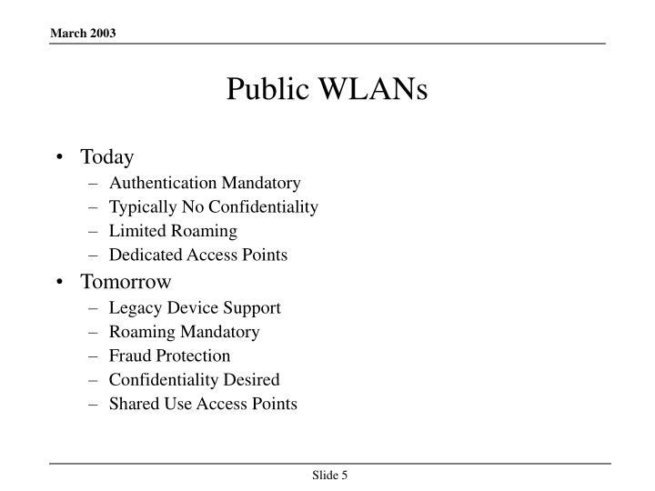 Public WLANs