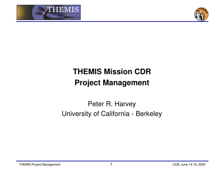 THEMIS Mission CDR