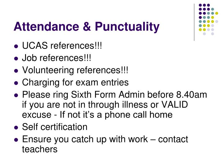 Attendance & Punctuality