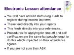 electronic lesson attendance