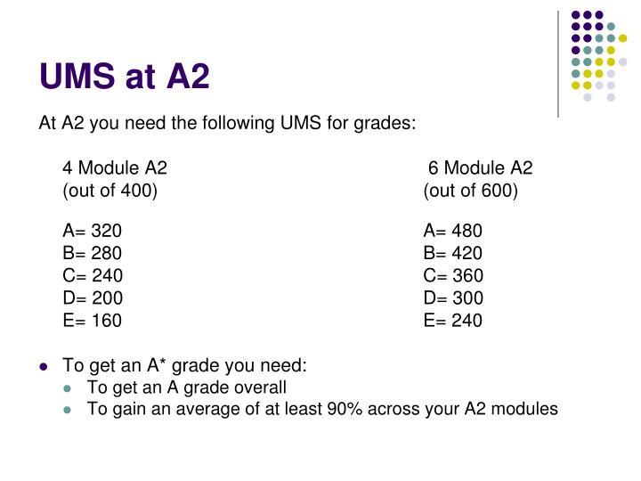 UMS at A2