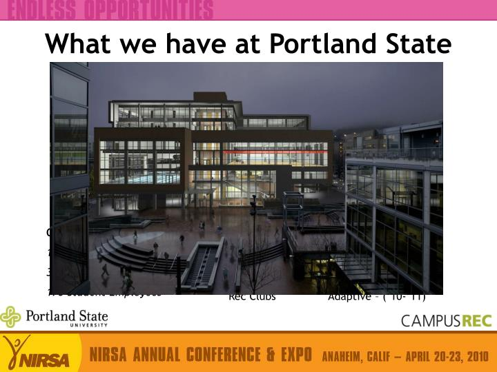 What we have at portland state
