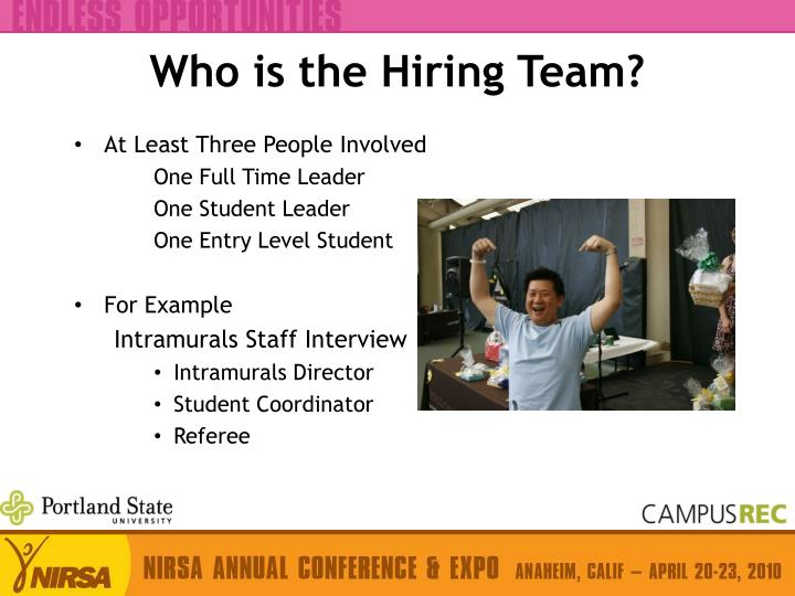 Who is the Hiring Team?