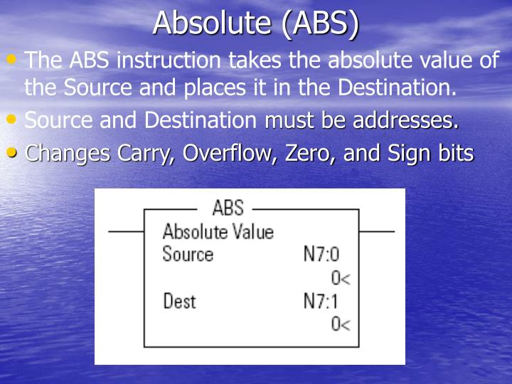 Absolute (ABS)
