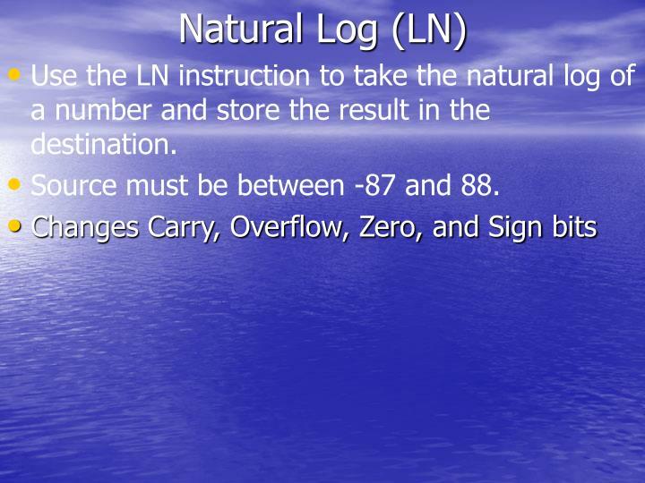Natural Log (LN)