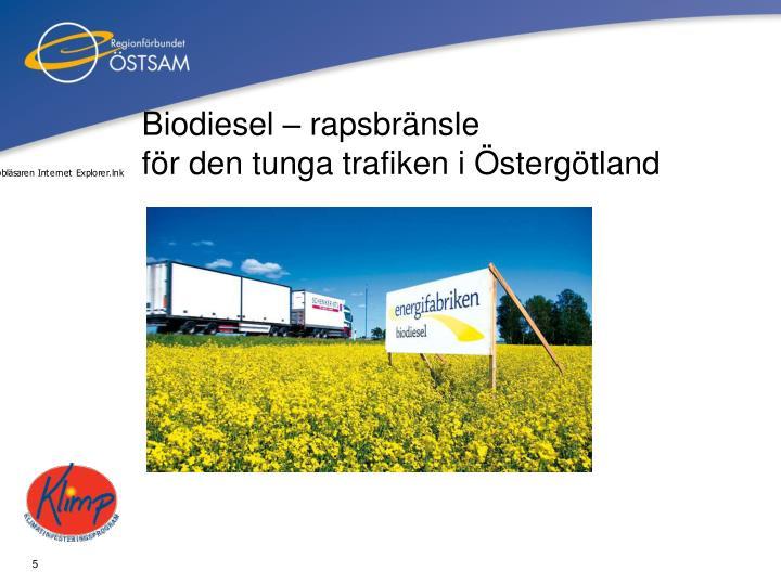 Biodiesel – rapsbränsle