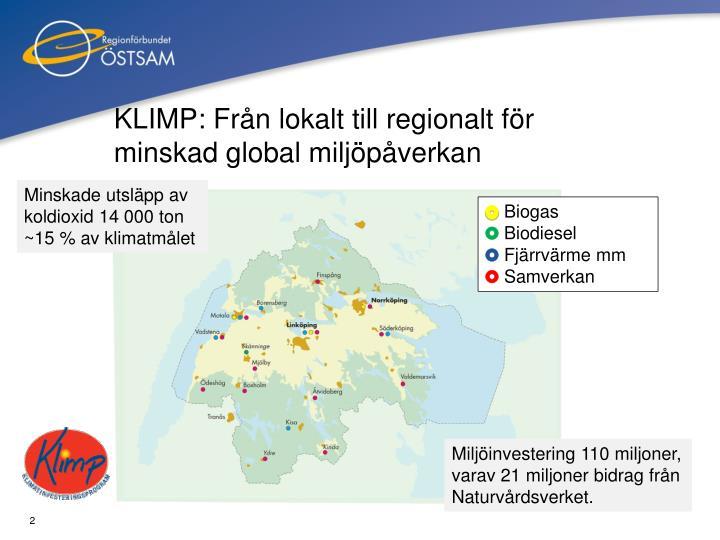 KLIMP: Från lokalt till regionalt för minskad global miljöpåverkan