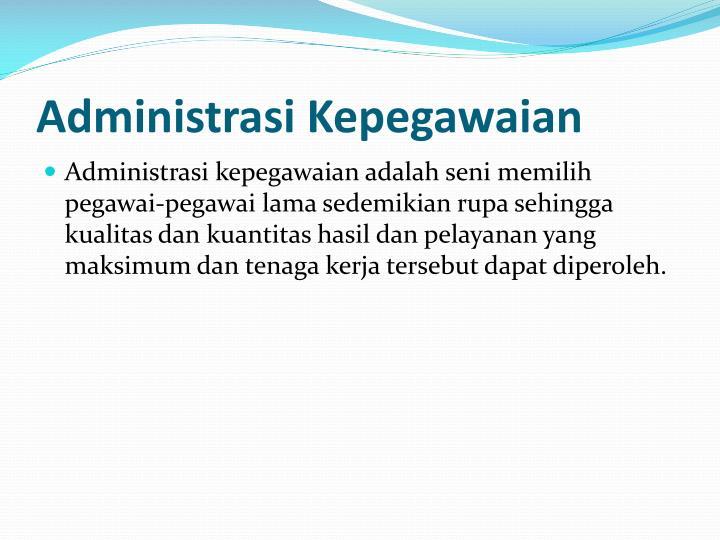 Administrasi Kepegawaian