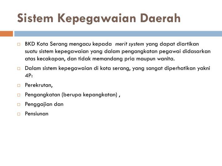 Sistem Kepegawaian Daerah