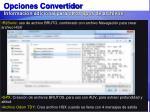 opciones convertidor informaci n adicional para otros tipos de archivos