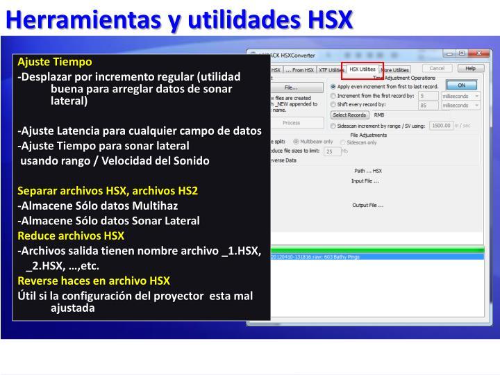 Herramientas y utilidades HSX