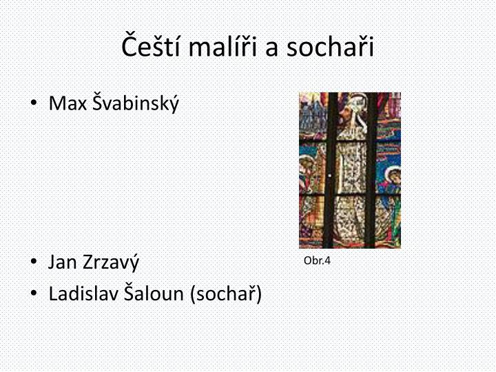 Čeští malíři a sochaři