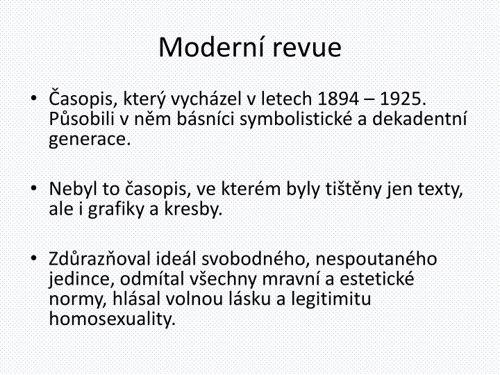 Moderní revue