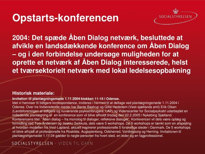 Opstarts-konferencen