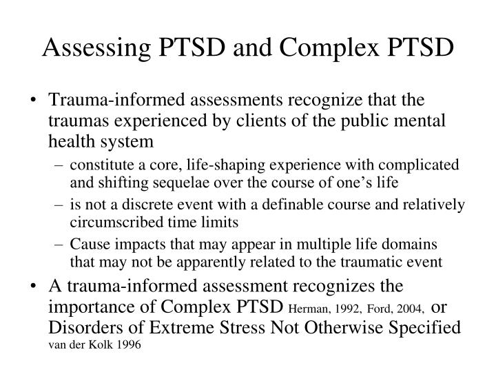 Assessing PTSD and Complex PTSD