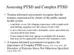 assessing ptsd and complex ptsd1