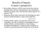 benefits of inquiry a nurse s perspective