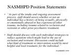 nasmhpd position statements1