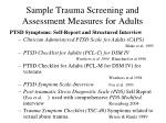 sample trauma screening and assessment measures for adults2