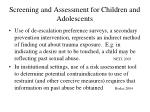 screening and assessment for children and adolescents3