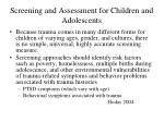 screening and assessment for children and adolescents4