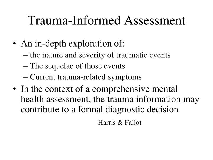 Trauma-Informed Assessment
