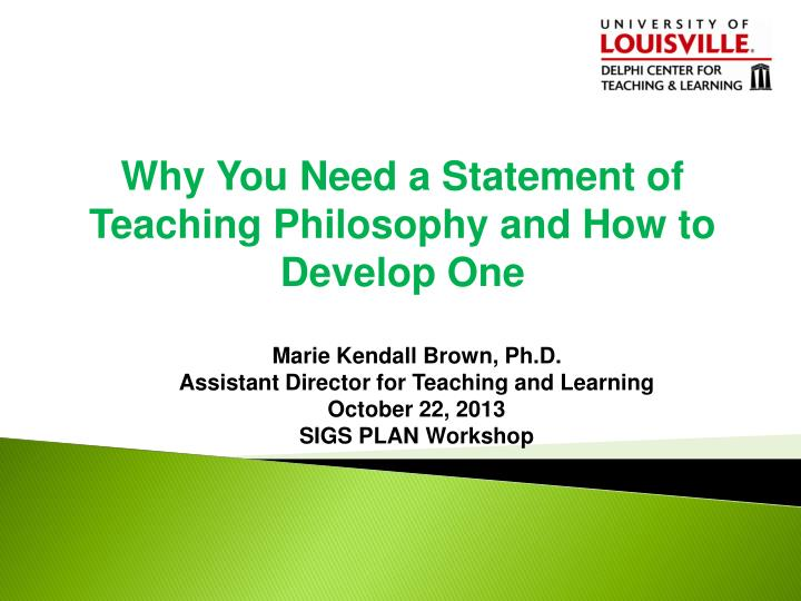 developing a philosophy of teaching statement essays on teaching excellence The reflective teaching statement that the development of a teaching philosophy can be teaching statement essays on teaching excellence.