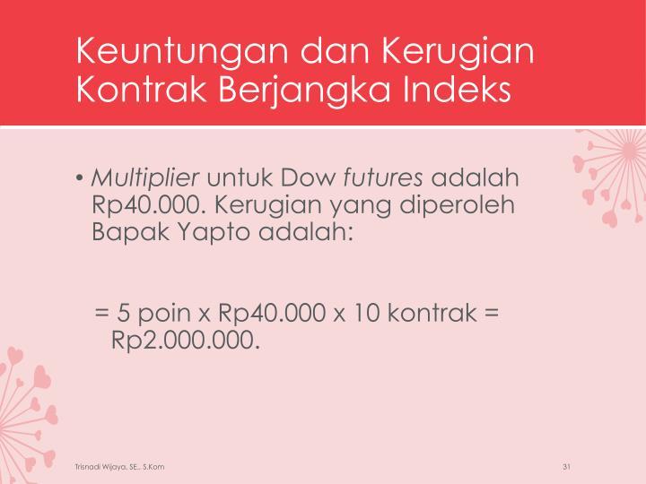 Keuntungan dan Kerugian Kontrak Berjangka Indeks