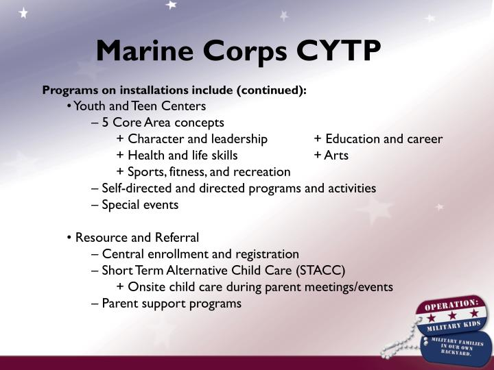 Marine Corps CYTP